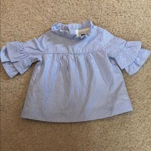 NWOT Janie and Jack Striped Ruffle Top